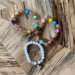 Set of 4 Beaded Bracelets